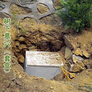 单穴墓园-水泥套盒 墓穴
