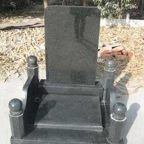 艺术墓型-黑围栏碑